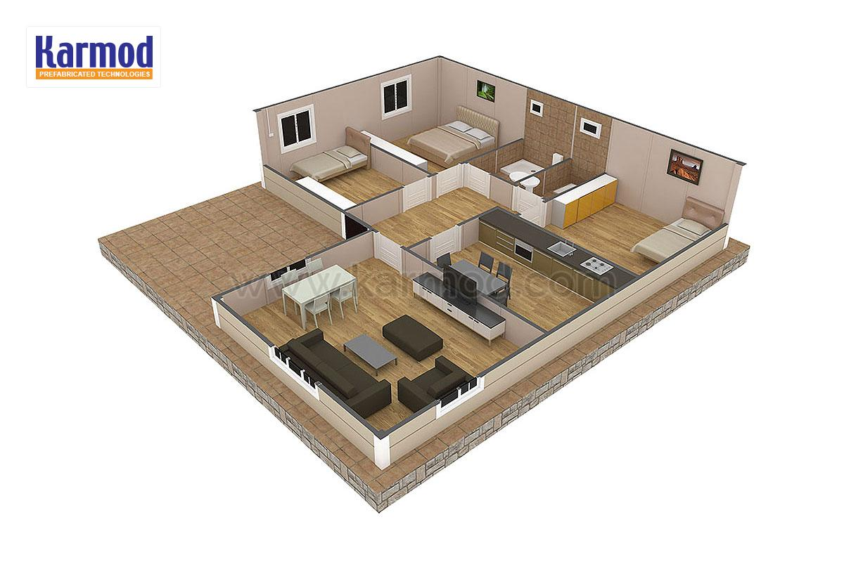 Prefab Steel Homes Low Cost Family Modular Houses