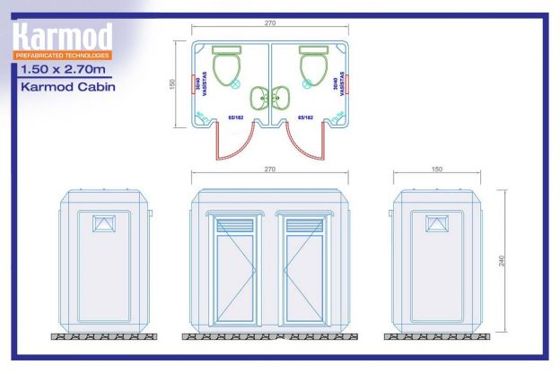 Portable Toilet and Shower   Bathroom Cabins