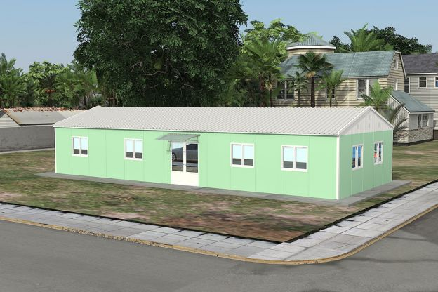 modular office building costs labor camps man