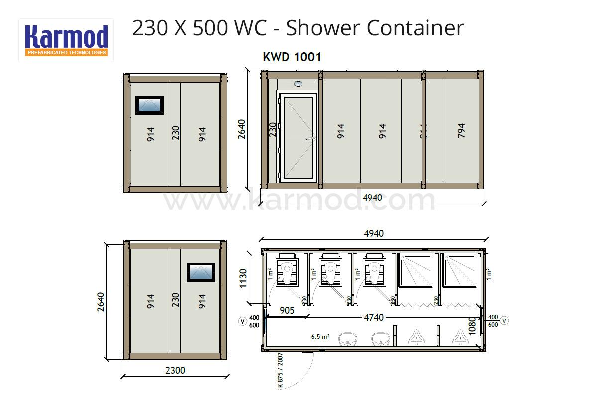 New Toilet And Shower Ablution Container