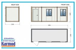 Flat pack container accommodation units   Karmod