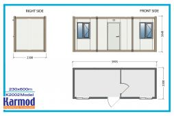 Flat pack containers site office   Karmod