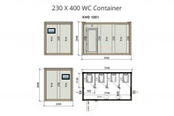 KW4 230X400 WC Container