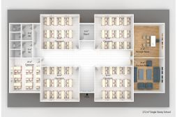 Prefabricated School 272 M² | Temporary classrooms for sale