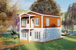 Two Storey Prefab Housing 126 m2