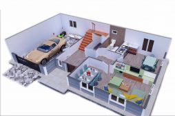 Two Storey Prefab Housing 206 m2