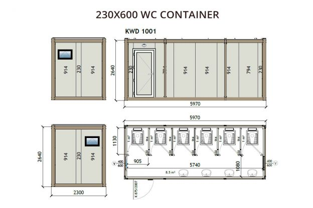 230X600 WC Container