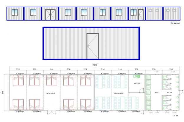 137 m² Site Container Structures