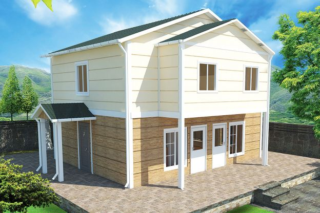 114 m2 Prefabricated House