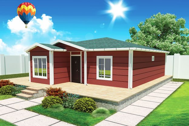 96 m2  Prefabricated House