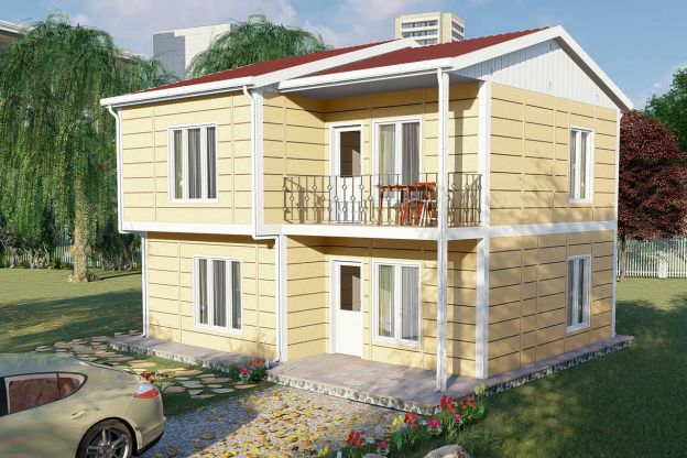Two Storey Prefab Housing 137 m2