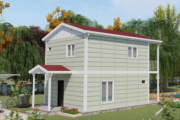 Two Storey Prefab Housing 91 m2