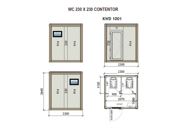 Contentor WC 230X230