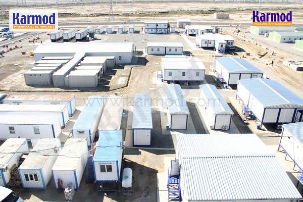 Construction site container camps