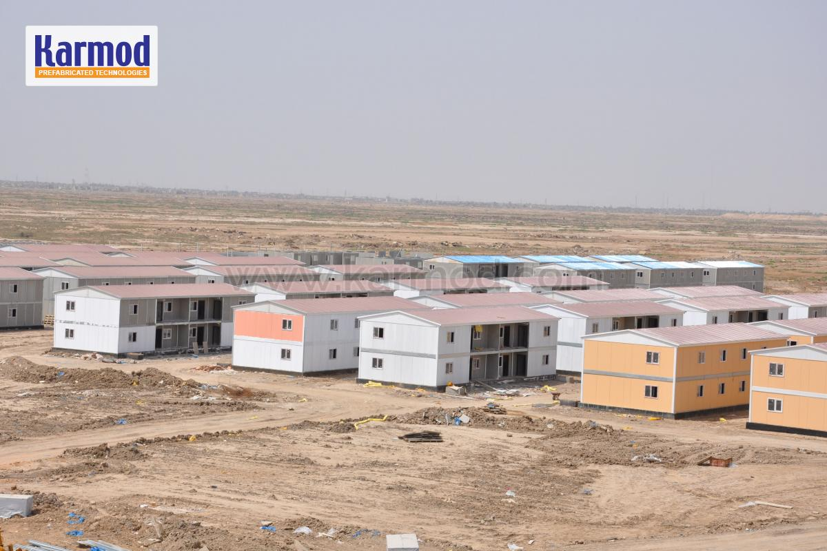 container buildings lot iraq