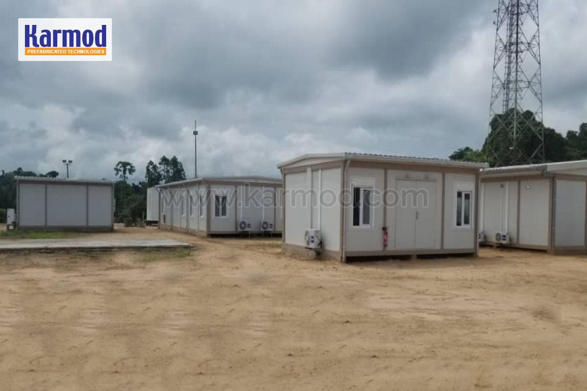 Container at Petroleum Pipelines Construction Site in Gabon