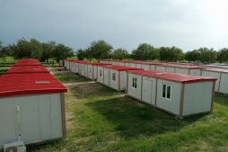 Military camp buildings in Borno, Nigeria