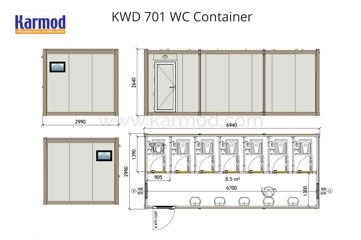 Wc Amp Shower Sanitary Containers Plans