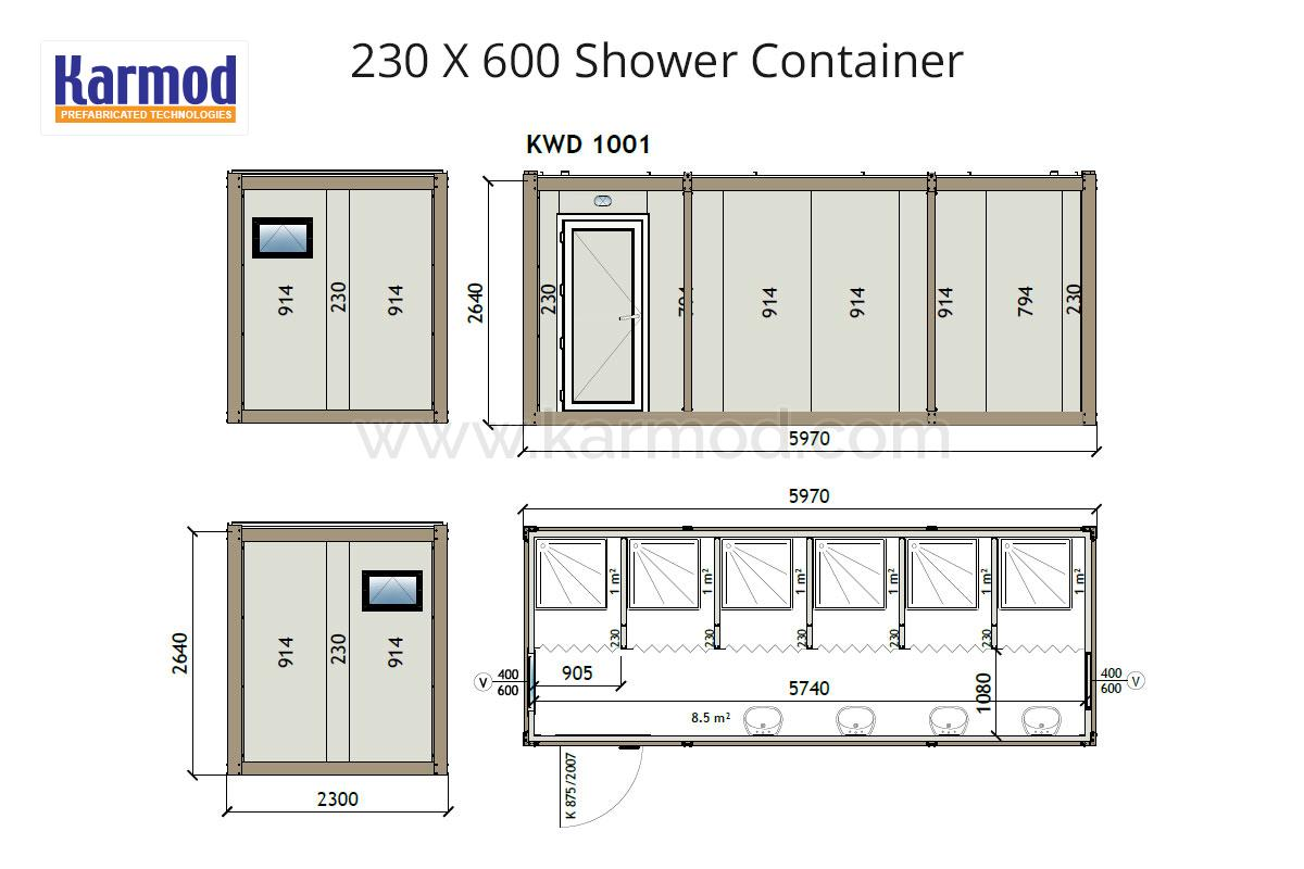 Wc shower sanitary containers plans for Washroom plan