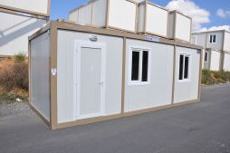 Flat pack container accommodation units