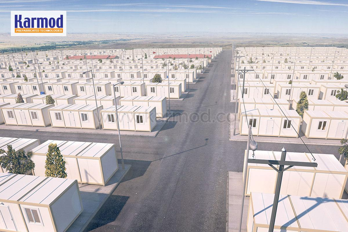 Refugee container shelters   Portable container shelters   Camps for refugees