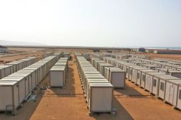 Prefabricated gold mine worker sites and offices